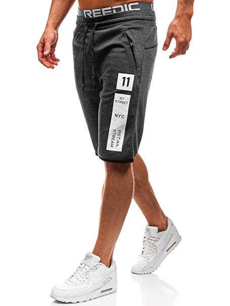 A. Salvarini Herren Bermuda Shorts Kurze Sommer Hose inkl. Gürtel AS 096 [AS 096 Schwarz W32]