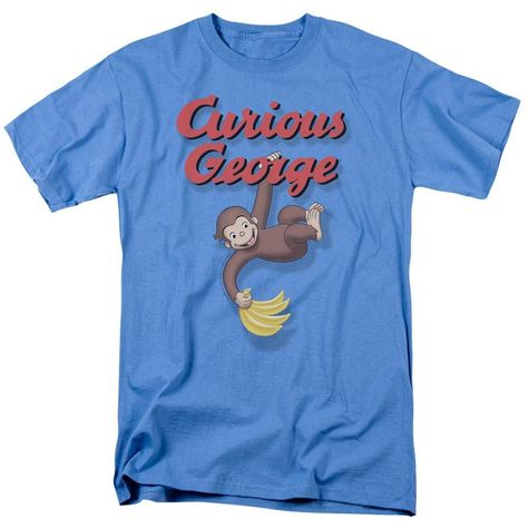Curious George HANGIN/' OUT with Bananas Licensed Juniors Cap Sleeve T-Shirt