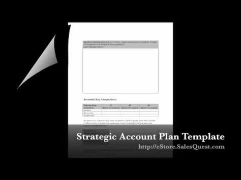 Check out our Strategic Account Plan Template we created! Itu0027s - account plan templates