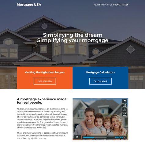 responsive usa mortgage deals landing page design
