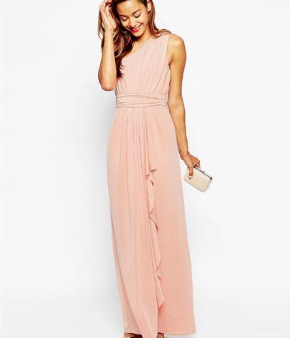 newest 3993a 0948f Vestito in lungo rosa antico firmato da Asos | Fashion ...