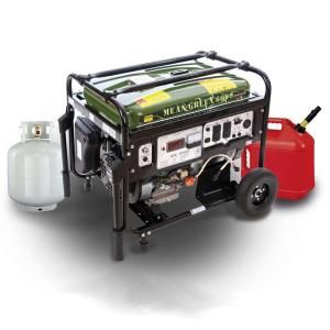 6000-Watt Mean Green Dual Fuel Electric Start (Gas/LPG) Generator-MP5500DF at The Home Depot