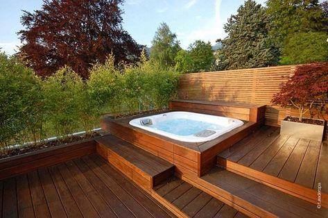 Jacuzzi Exterior Ideas Para Colocarlo En El Jardin Con Imagenes