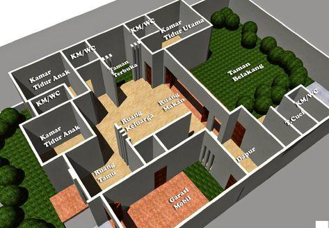 desain rumah minimalis 1 lantai 5 kamar   desain rumah