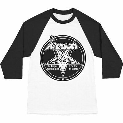 Venom Mens In League With Satan Baseball Jersey In 2020 Baseball Jerseys Long Sleeve Tshirt Men Baseball