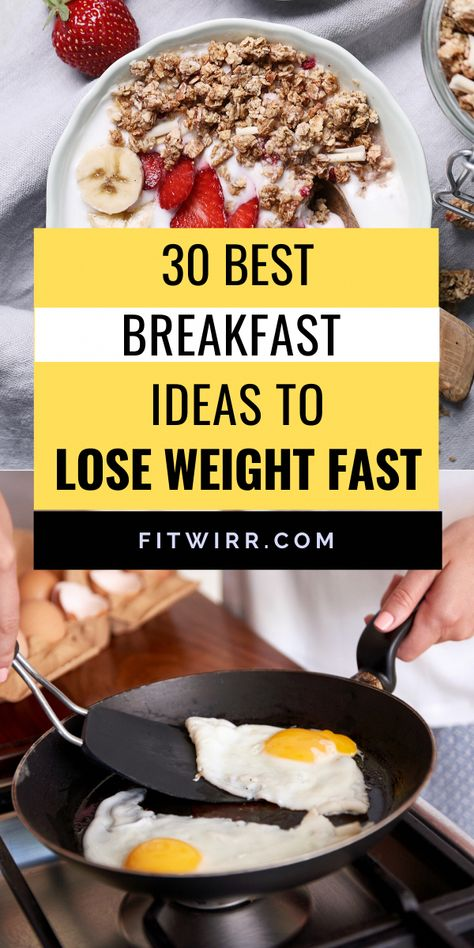 Looking for some healthy breakfast ideas for your weight loss meal plan? Check out these 30 low calorie, healthy breakfast ideas for weight loss and busy morning. #healthybreakfastideas #healthybreakfastrecipes #weightlossrecipes #ListOfLowCarbFoodsForWeightLoss