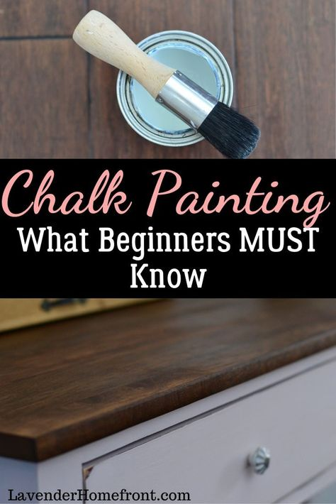 The ultimate guide to chalk painting for beginners! What beginners MUST know. How to upscale and DIY your furniture with chalk painting. Chalkboard Paint Furniture, Chalk Paint Cabinets, Chalk Paint Kitchen, Gray Chalk Paint, Using Chalk Paint, Chalk Paint Colors, Chalk Paint Projects, Annie Sloan Chalk Paint, Painted Furniture