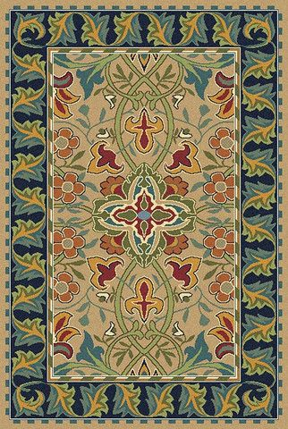 Bullerswood Rug Carpet By William Morris Design And Chart