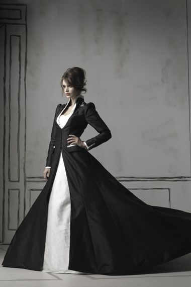 Black & White Wedding Dresses