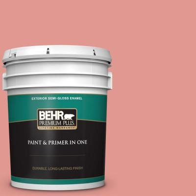 Behr Premium Plus 5 Gal 160d 4 Strawberry Rose Semi Gloss Enamel Exterior Paint And Primer In One 540005 Exterior Paint Behr Exterior
