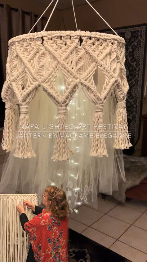 Macrame artist Lucy Lanuza creates and participated in Napa Valley's Lantern parade in this years Art Festival. Come and check out her fabulous works of macrame art.