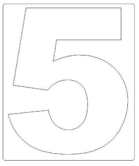 Duas galerias de moldes Números para imprimir