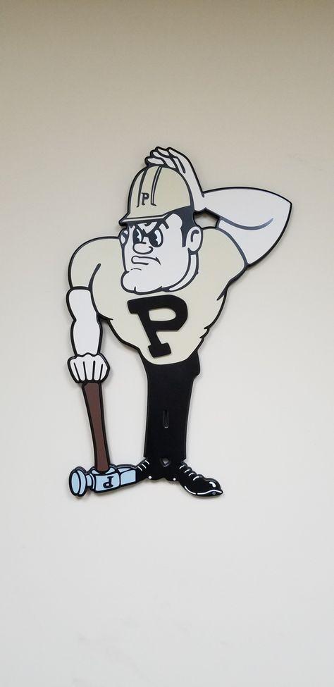 """Purdue Pete  -  Purdue University  28"""" x 18"""""""