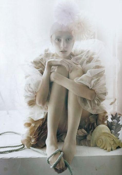 Olga Sherer photographed by Tim Walker for Vogue Italia.