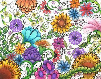 50 Ideas For Drawing Flowers Ideas Secret Gardens Secret Garden Coloring Book Flowers A View In The G Secret Garden Colouring Flower Drawing Book Flowers