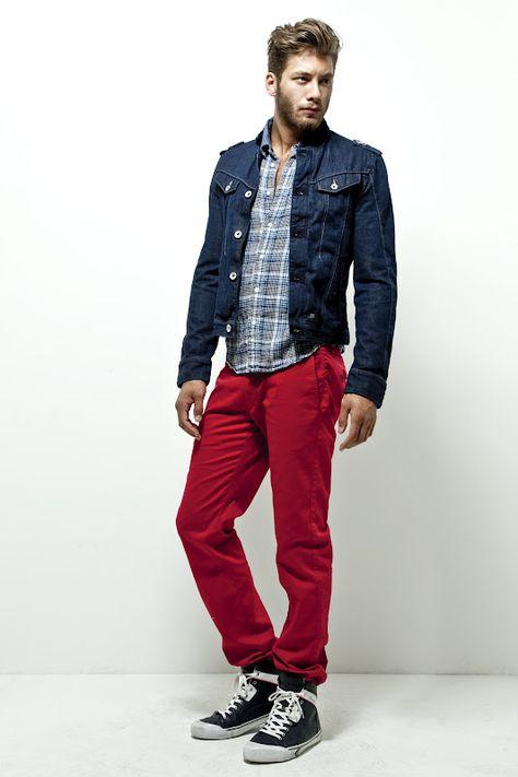 36 Ideas De Pantalon Rojo Pantalones Rojos Pantalon Rojo Hombre Ropa De Hombre