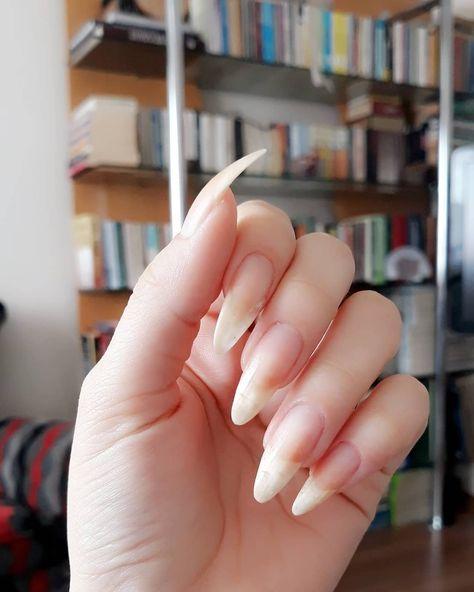Naturel nails 🤗 #naturenails #clearnail #nailart #nailpolish #nailinstagram #nailstyle #stilettonails #longnails #naturelongnails…