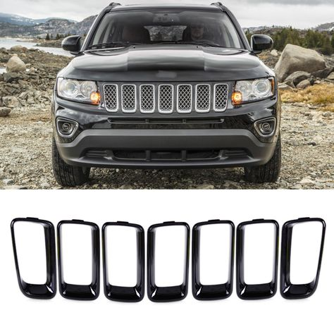 Jeep Compass 2011 2016 Front Grille Vent Hole Cover Best Price Oempartscar Com Jeep Compass Jeep Compass Accessories Jeep