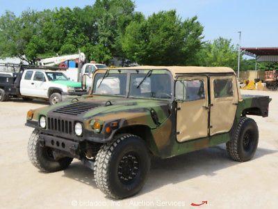 Am General M998a 4wd Military Humvee Truck 6 2l 380ci V8 Diesel