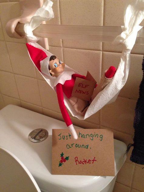 Elf Ideas Easy, Awesome Elf On The Shelf Ideas, Elf On Shelf Funny, Elf Is Back Ideas, Elf On The Shelf Ideas For Toddlers, Shelf Elf, Christmas Activities, Christmas Traditions, Christmas Elf