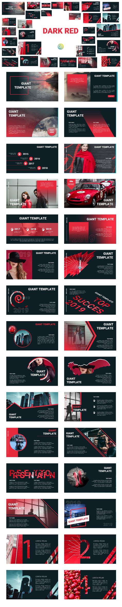 Dark Red - Template PTT Free Download