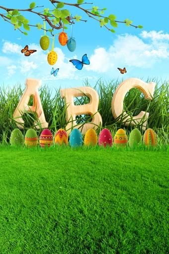 Easter Colorful Eggs Green Grass Photography Backdrop Ge 022 Studio Backdrops Backgrounds Backdrops Backgrounds Photography Backdrops