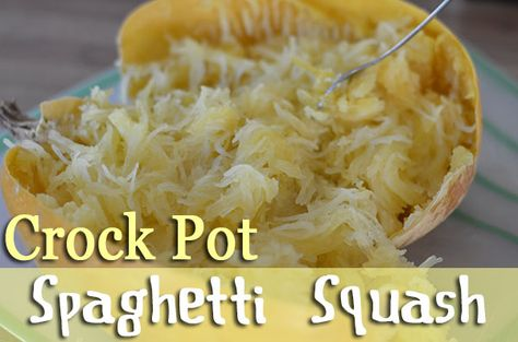 Crock Pot Spaghetti Squash - Stacy Makes Cents