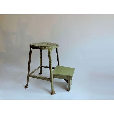 Enjoyable Image Of Industrial Sage Green Step Stool Kitchen Stool Gmtry Best Dining Table And Chair Ideas Images Gmtryco