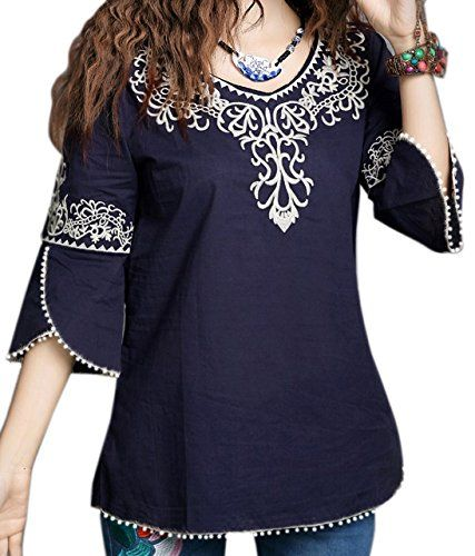 5294f579349 Fabric: Rayon Cotton Rich, Stylish Top, Value for money Women/Girls Tops, A  stylish casual top with Long sleeves blended with decent embroidery, ...