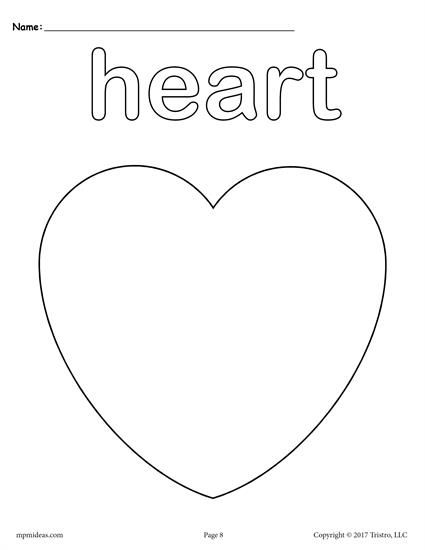12 Shapes Coloring Pages Shape Coloring Pages Heart Coloring Pages Shapes Preschool Printables