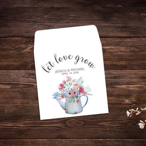 Let Love Grow, Seed Packet Favor, Spring Wedding, #weddings @EtsyMktgTool #seedpackets #seedfavors #weddingfavors #weddingseedfavor
