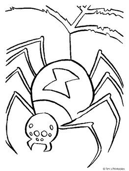 Spider On Top Of A Web Coloring Page Insects Spider Coloring Page Halloween Coloring Pages Birthday Coloring Pages