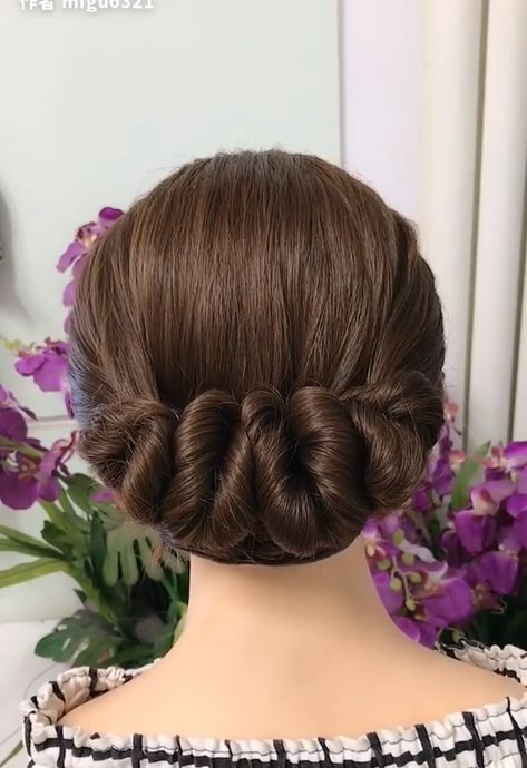 Hair styling for soft curly hair