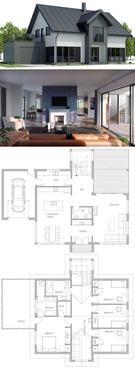 house design house plan ch447 100 House Plans