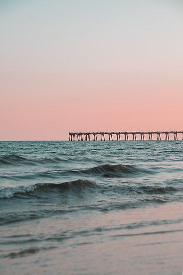 'Pink Sky with Boardwalk Along the Ocean' Photographic Print by Claire Andrews Pink Images, Beach Images, Beach Pictures, Beach Aesthetic, Aesthetic Photo, Aesthetic Pictures, Aesthetic Vintage, Beach Pink, Pink Summer