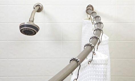 24 99 For A Bath Bliss 72 Curved Shower Curtain Rod 122 List