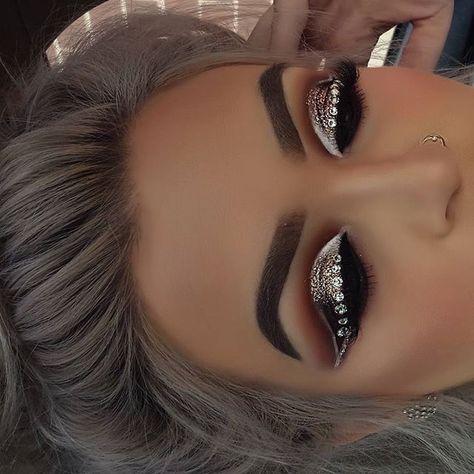 Hooded Eye Makeup – Great Make Up Ideas Glam Makeup, Baddie Makeup, Glamorous Makeup, Cute Makeup, Perfect Makeup, Gorgeous Makeup, Bridal Makeup, Beauty Makeup, Hair Makeup