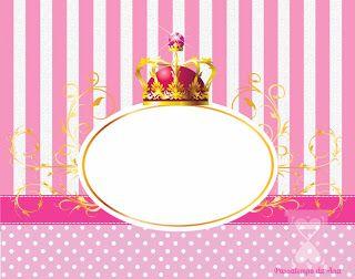 Passatempo da Ana: Kit - Coroa de Princesa (Rosa e Branco)