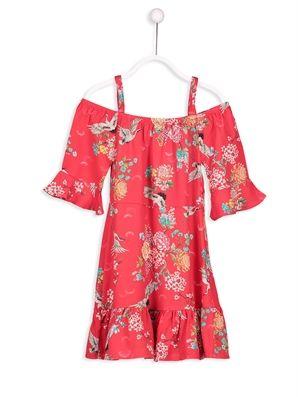 Omuzu Acik Viskon Elbise Lc Waikiki Elbise Giyim Elbise Modelleri