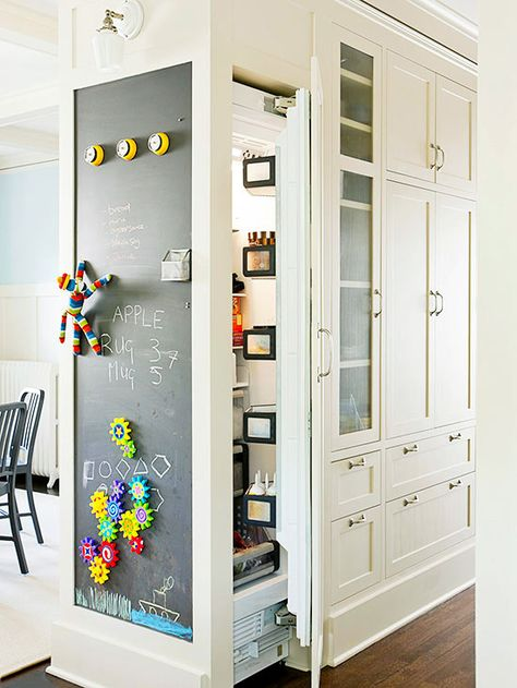 Fighting an endless battle with a crowded refrigerator? Check out this space saving tip: http://www.bhg.com/decorating/storage/organization-basics/ways-to-reduce-clutter/?socsrc=bhgpin021915cleanoutschedule&page=8