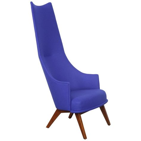 Fine Spectacular Pair Of Adrian Pearsall High Back Chairs Mid Camellatalisay Diy Chair Ideas Camellatalisaycom