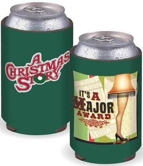 A Christmas Story Can Cooler Koozie - Leg Lamp - Green A Christmas