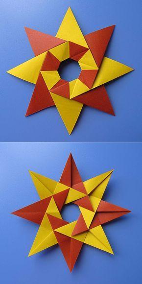 Origami Stella Di Natale.Modular Origami Diagrams Stella Natale Christmas Star By Francesco Guarnieri Origami Geometrici Origami Modulare Creazioni Con Carta