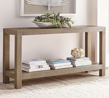 Hadley Herringbone Reclaimed Wood Console Table In 2019