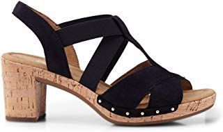 Damen Sandaletten, Damen Gabor Sandalette Blau