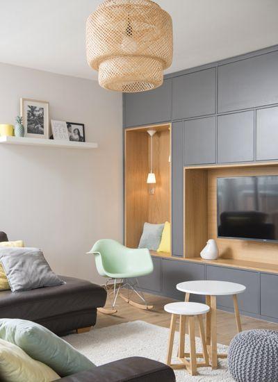 Un Bain De Lumiere Amenagement Renovation Appartement Lyon Villeurbanne Decoration Interieur Appartement Meuble Rangement Salon Et Amenagement Appartement