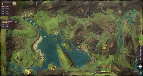 Fullhd Mmorpg Map Guild Wars Guild Wars 2 Map