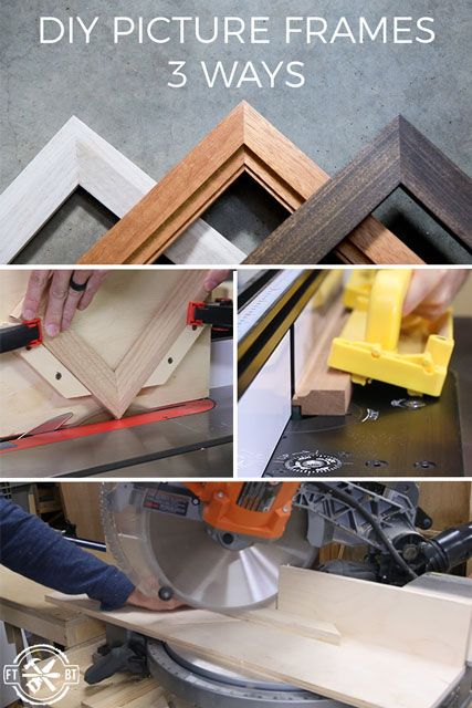 How to Make a Picture Frame DIY.  Learn how to make your own picture frames three different ways!  Great beginner project
