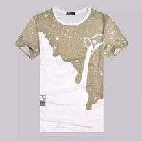 45a7a1df6637a Dripping+galaxy+print+graphic+shirt.+Sizes S-4XL+available