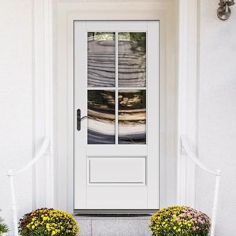 Therma Tru Benchmark Doors 36 In X 80 In Fiberglass 3 4 Lite Right Hand Inswing White Painted Prehung Single Front Door Brickmould Included Lowes Com In 2020 Therma Tru Entry Doors Single Doors How to replace an exterior door. therma tru benchmark doors 36 in x 80